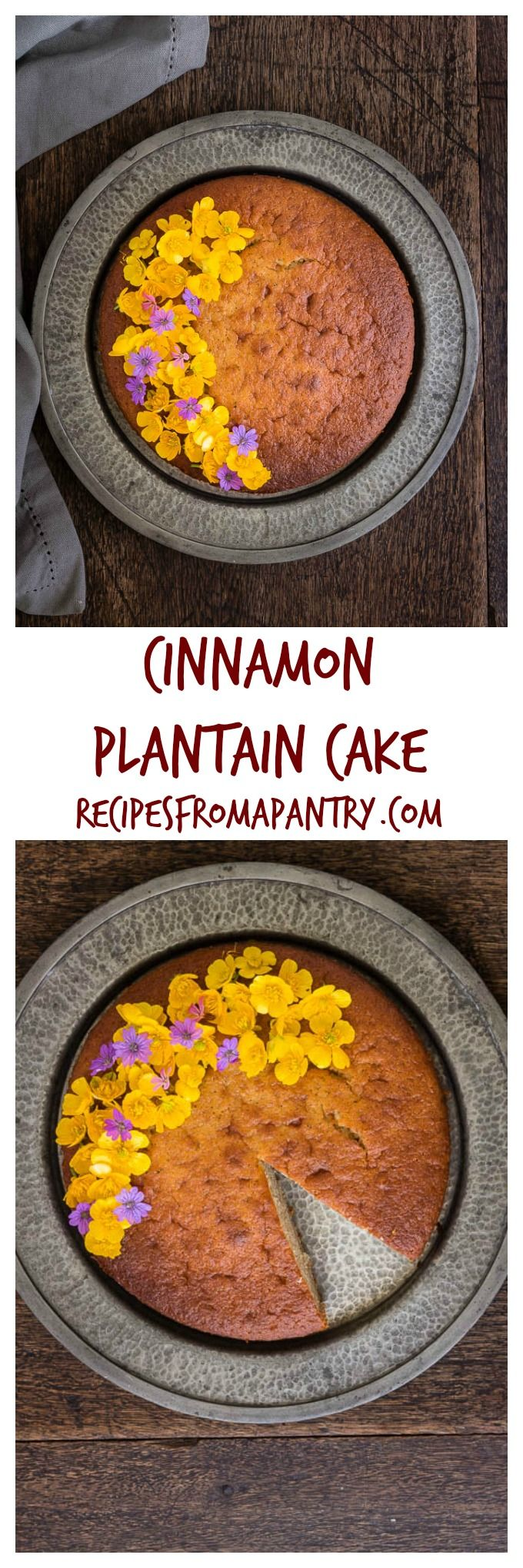 Cinnamon Plantain Cake | Recipes From A Pantry