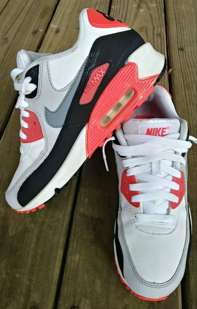 100% authentic 51f70 f8bf5 Nike Air Max 90 Running Shoes Multicolor Youth Size 6y WMNS Size 7.5 AS IS -