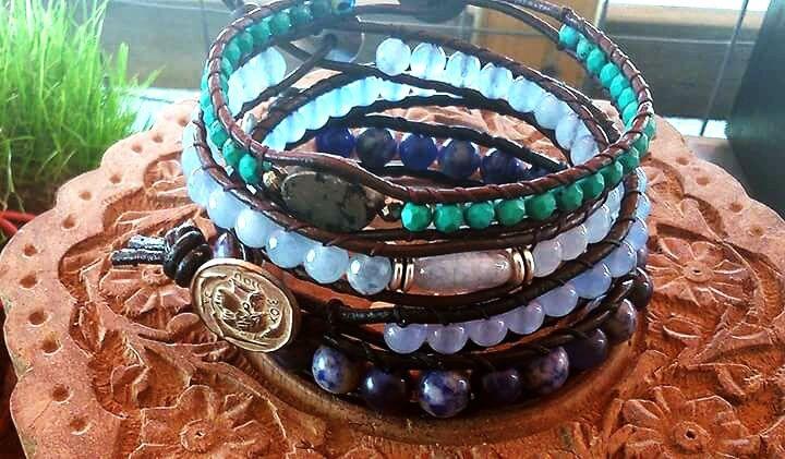 Mix n match aquamarine/tyrqoise/sodalite faceted beads