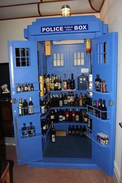 TARDIS liquor cabinet