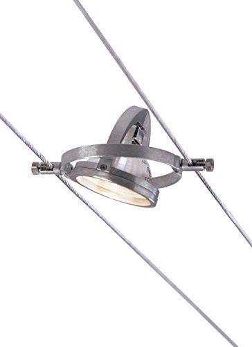 "Tech Lighting 700KHELLO5, K Hello, 5.5"" Wide Kable Lite Lamp, Satin Aluminum"