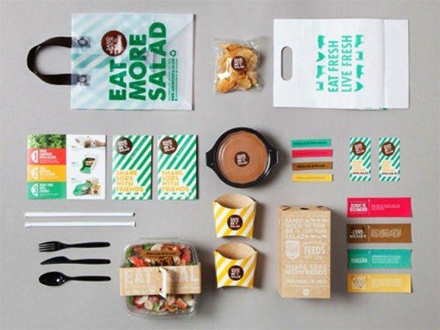 Sandwich or Salad - Contoh Corporate Identity untuk Branding Bisnis
