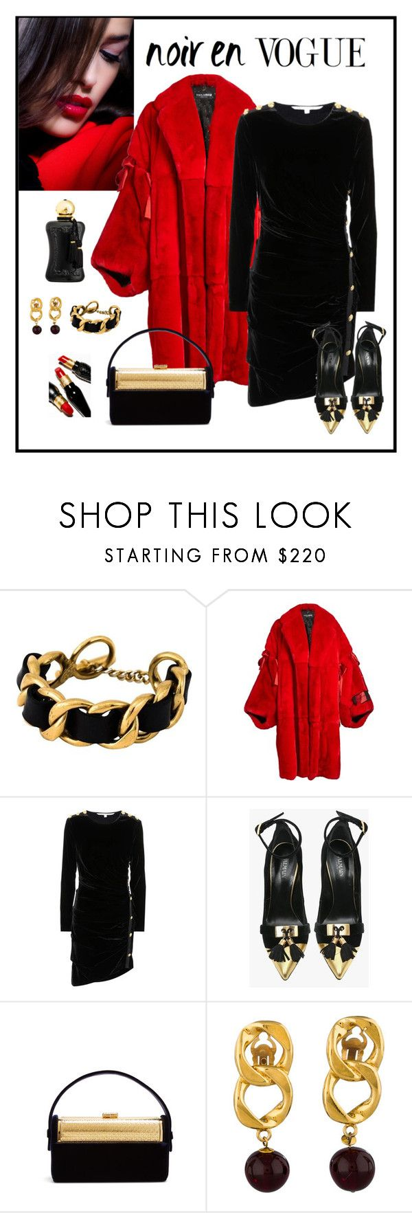 """""""Contest - Crushing on Velvet"""" by romaboots-1 ❤ liked on Polyvore featuring Chanel, Dolce&Gabbana, Veronica Beard, Balmain, Bienen-Davis and Parfums de Marly"""