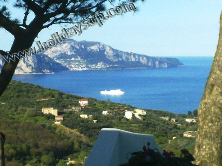 Isle of capri view at nice villa in sorrento coast Holidaylettings sorrento vbroamalfi coast villas with pool