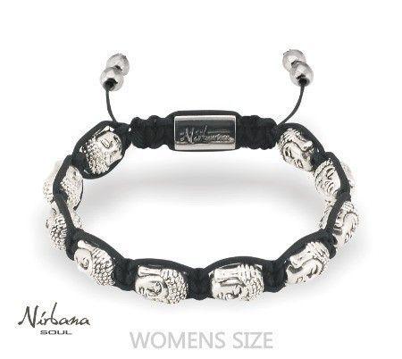Nirbana Soul - Buddha Silver - Shamballa Bracelet
