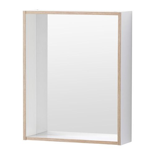 IKEA - TYNGEN, Mirror with shelf, , Can be used as a shelf for a soap dish and tumbler, thanks to the depth of the frame.The mirror comes with safety film on the back, which reduces the risk of injury if the glass is broken.Perfect in a small bathroom.