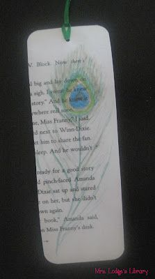 Decorate pages from weeded books and create bookmarks.