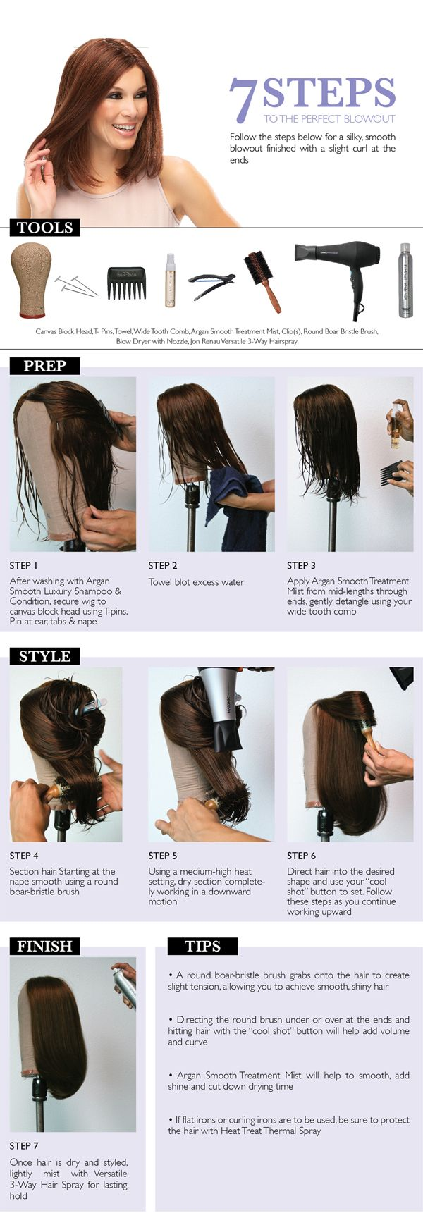 7 steps to a beautiful human hair blowout #wigs #humanhair