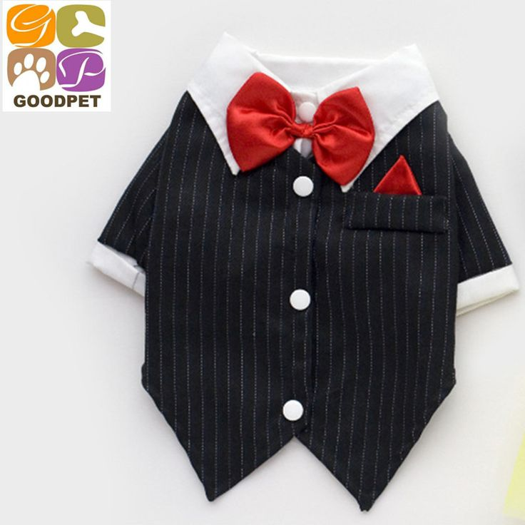 Pet Dogs Cat Clothing Prince Tuxedo Bow Tie Suit Puppy Costume Jumpsuit Dog Coat ropa para perros   ropa perro  QT151109-9 #Affiliate