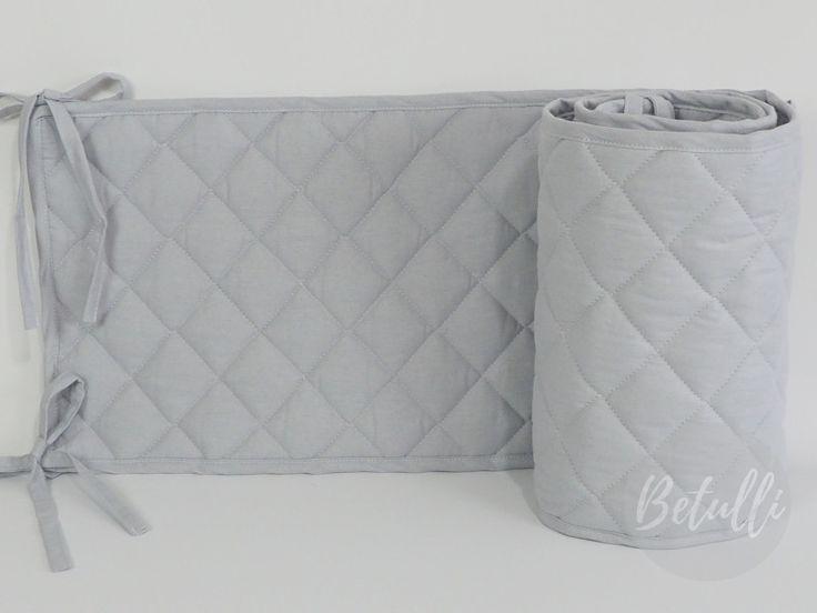 Nestchen - Nestchen für Babybett 70x140 Grau Gesteppte  - ein Designerstück von Betulli bei DaWanda
