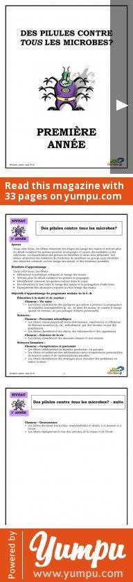 PREMIÈRE ANNÉE - Des pilules contre tous les microbes? - Magazine with 33 pages: PREMIÈRE ANNÉE - Des pilules contre tous les microbes?