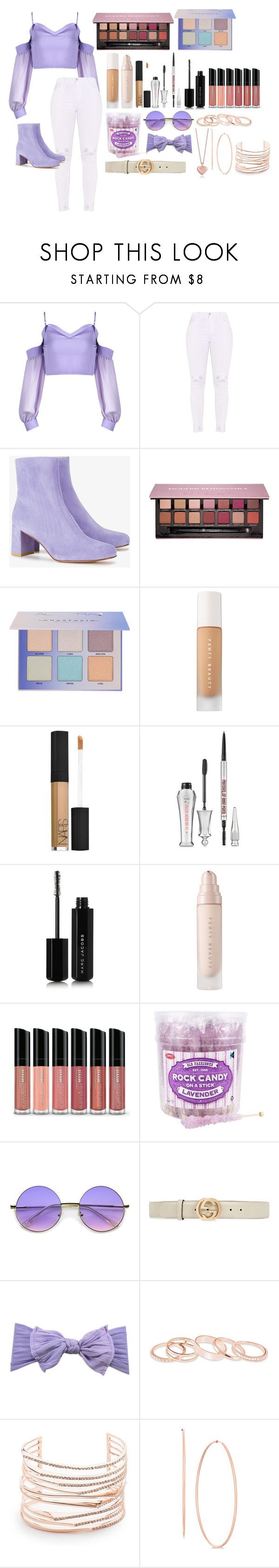 """""""Untitled #36"""" by opalpixs ❤ liked on Polyvore featuring Maryam Nassir Zadeh, Anastasia Beverly Hills, Puma, NARS Cosmetics, Benefit, Marc Jacobs, Bare Escentuals, ZeroUV, Gucci and Kendra Scott"""
