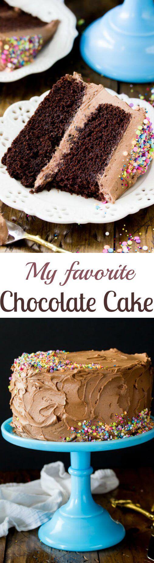 Chocolate Cake via @sugarsunrun