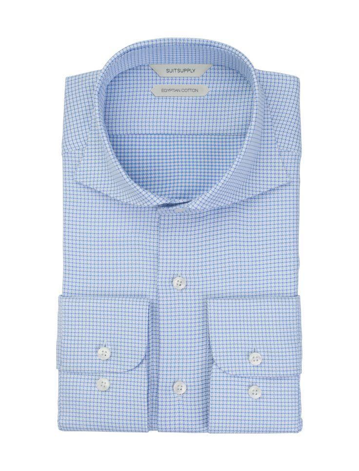 Light Blue Shirt Single Cuff H4933   Suitsupply Online Store