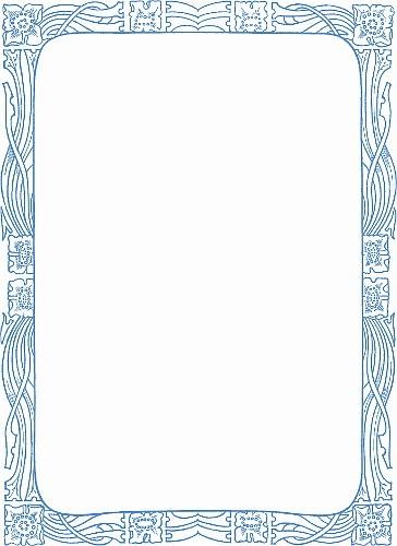 Art nouveau border design