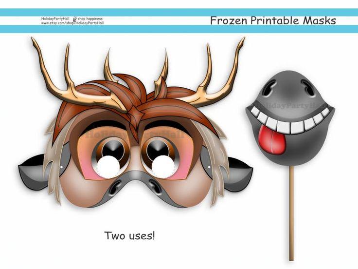 Frozen Mask Coloring Pages : Unique frozen printable masks party birthday
