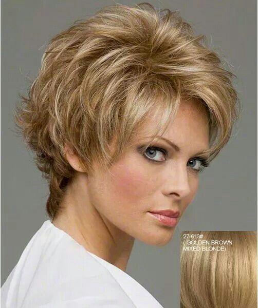 Elegante Fluffy explosión lateral Nobles Encanto onda corta de las mujeres  de cabello humano sin tapa peluca 541973c51fad