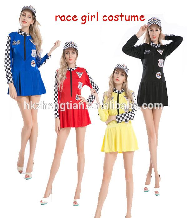 instyles Sexy Miss Indy Super Car Racer Racing Sport Driver Grid Girl Fancy Costume