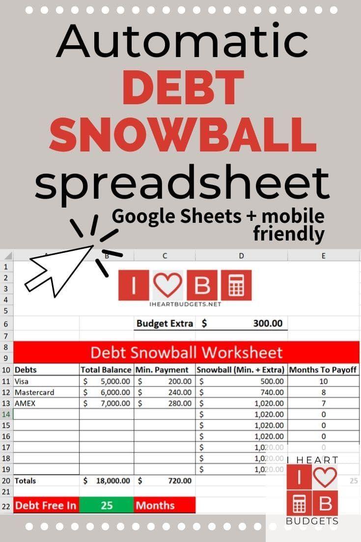 Free Debt Snowball Spreadsheet Video Debt Snowball Spreadsheet Debt Snowball Debt Snowball Worksheet