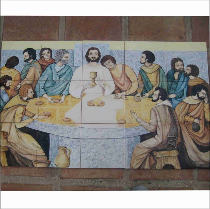 La Ultima Cena. Mural realizado para el altar de la parroquia Virgen Madre en Nueva Andalucía,  Marbella