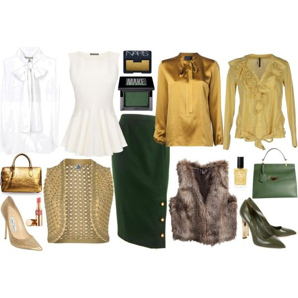 """Business Style Olive Green"" by happybirddesign on Polyvore"