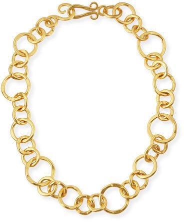 "Stephanie Kantis 24k Gold-Plated Bronze Coronation Necklace, 18"""