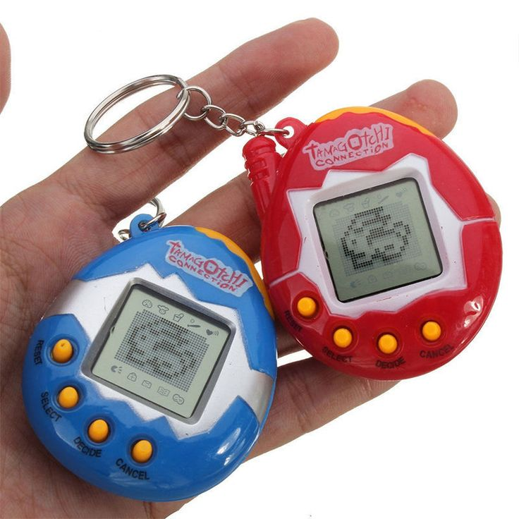 1 Pc Cute Electronic Virtual Digital Pet Games Machine Fun E-pet Kids Toys Handheld with Retro Nostalgic Keychain Christmas Gift
