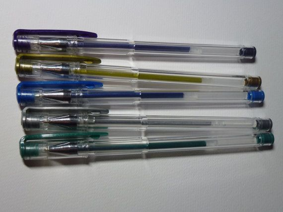Metallic gel pens by AzraelWest on Etsy