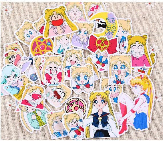 36 pcs Sailor Moon Stickers pack, Pretty Guardian Sailor