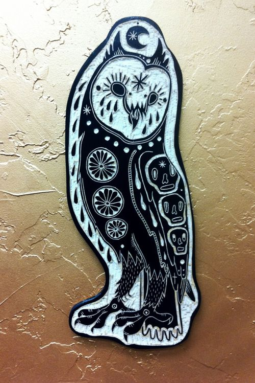 My Owl Barn: Tattoo Inspired Wood Carvings