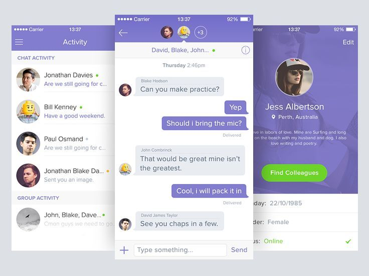 I seem to be doing a lot of chat apps these days. Been working on a redesign of a chat app for the corporate environment for communications between colleagues in a group/individual scenario.  Follo...