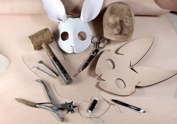 beautifully crafted leather masks