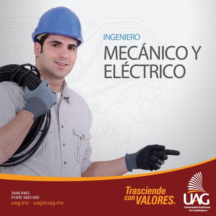 Al ser un Ingeniero Mecánico y Eléctrico de #UAG serás un profesionista con amplio conocimiento práctico y multidisciplinario, capaz de desarrollar tecnologías en diferentes campos de la ingeniería.