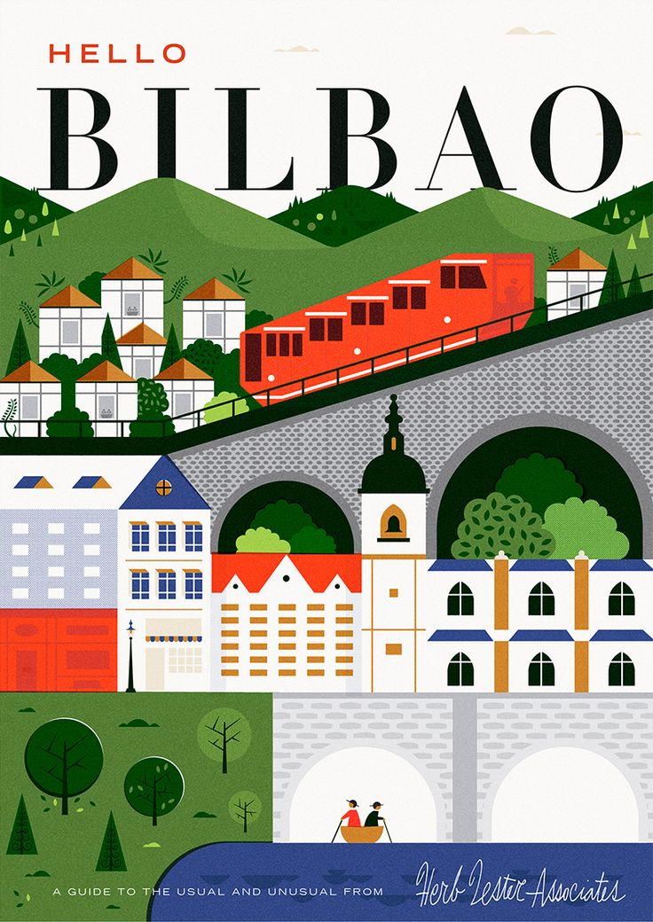 mapa bilbao ilustrado martin azambuja - Buscar con Google
