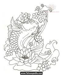 Afbeeldingsresultaat voor tatoeages koi met lotus