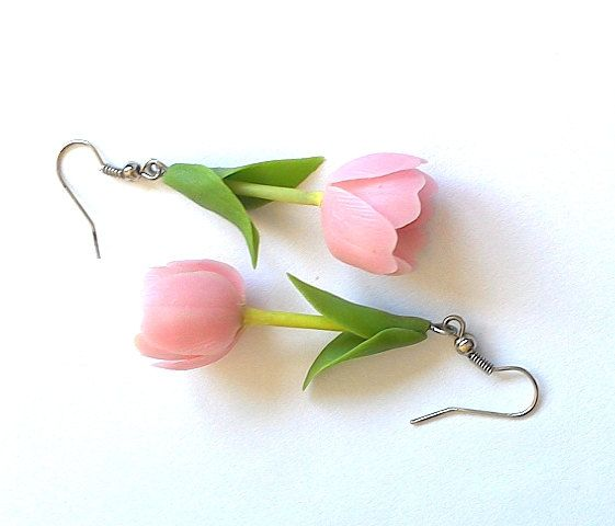 Hey, I found this really awesome Etsy listing at https://www.etsy.com/listing/206510964/earrings-tulpis-flower-jewelry-rose