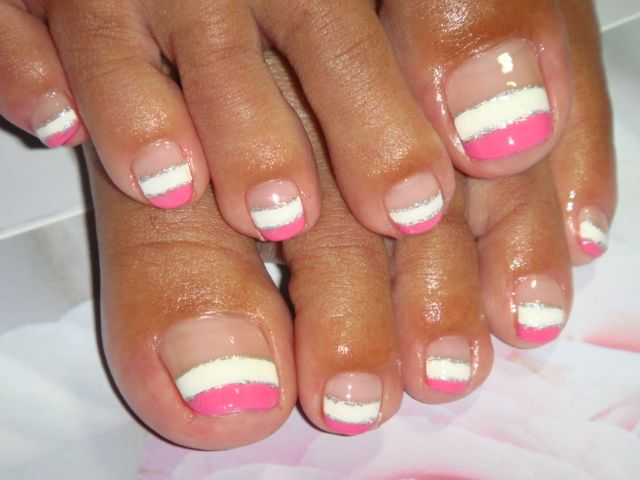 French pedicure is the easiest way to have beautiful, clean and trendy nails
