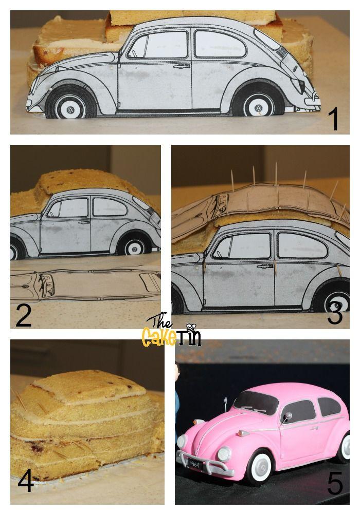 La forma más fácil de tallar una tarta coche.
