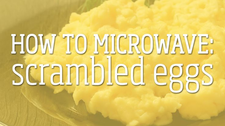 How to make perfect scrambled eggs every time… in the microwave