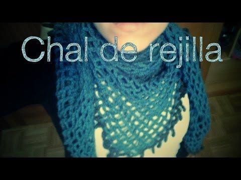 Chal de red, en ganchillo (ideal para principiantes). - YouTube easy crochet. Facil muy bueno!