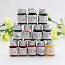5ML Multicolour Ink Signature Dip Sign Style Fountain Pen Water Glass Bottle