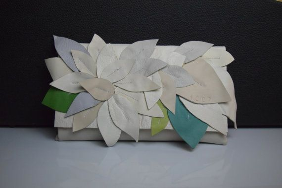 BOTANICA skulpturalen Leder Kupplung für Frau