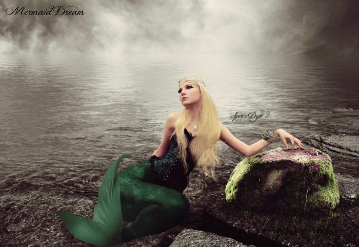 Girl : Maria Amanda ♥ : http://fav.me/d4y7nbn  Background : http://browse.deviantart.com/art/Premade-stock-18-122575112  Rock : http://fav.me/d1164cu  Mermaid Tail : http://fav.me/d566mpu  Hairs : http://fav.me/d4aiowf  and my own stock.