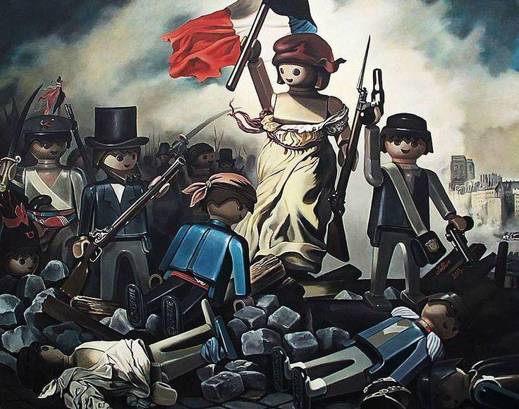 La liberté guidant le peuple (E. Delacroix) selon Pierre Adrien-Sollier