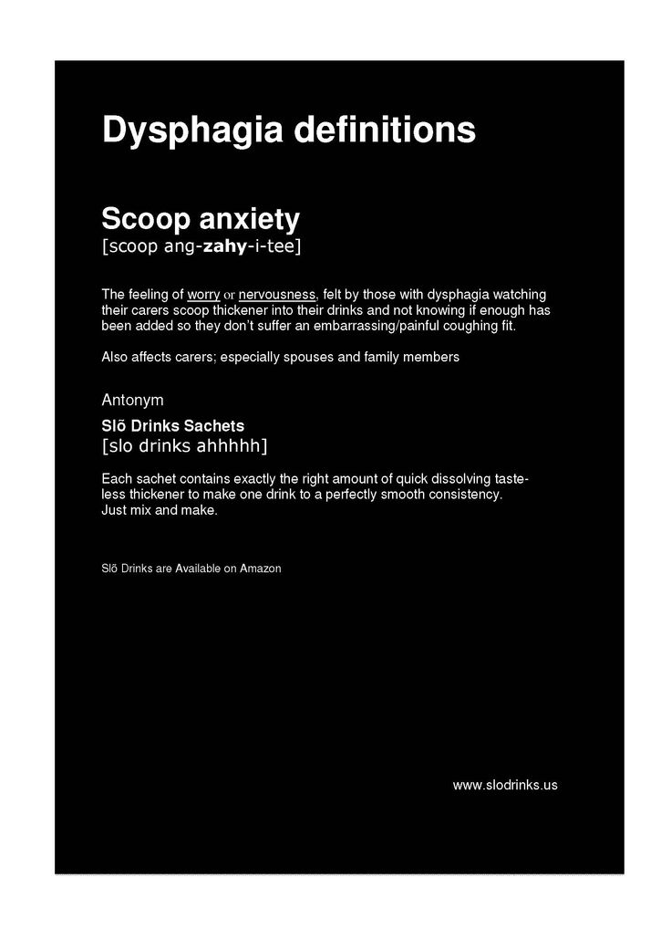 #Dysphagia definitions - Scoop #anxiety