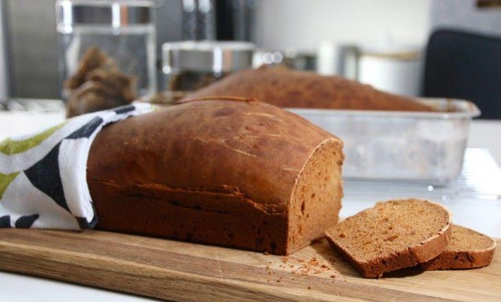 Saftigt lättbakat bröd på filmjölk med riktigt knaprig skorpa - så gott att man himlar med ögonon efter första tuggan.