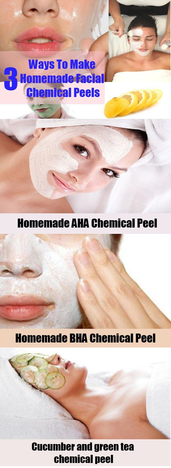 Ways To Make Homemade Facial Chemical Peels