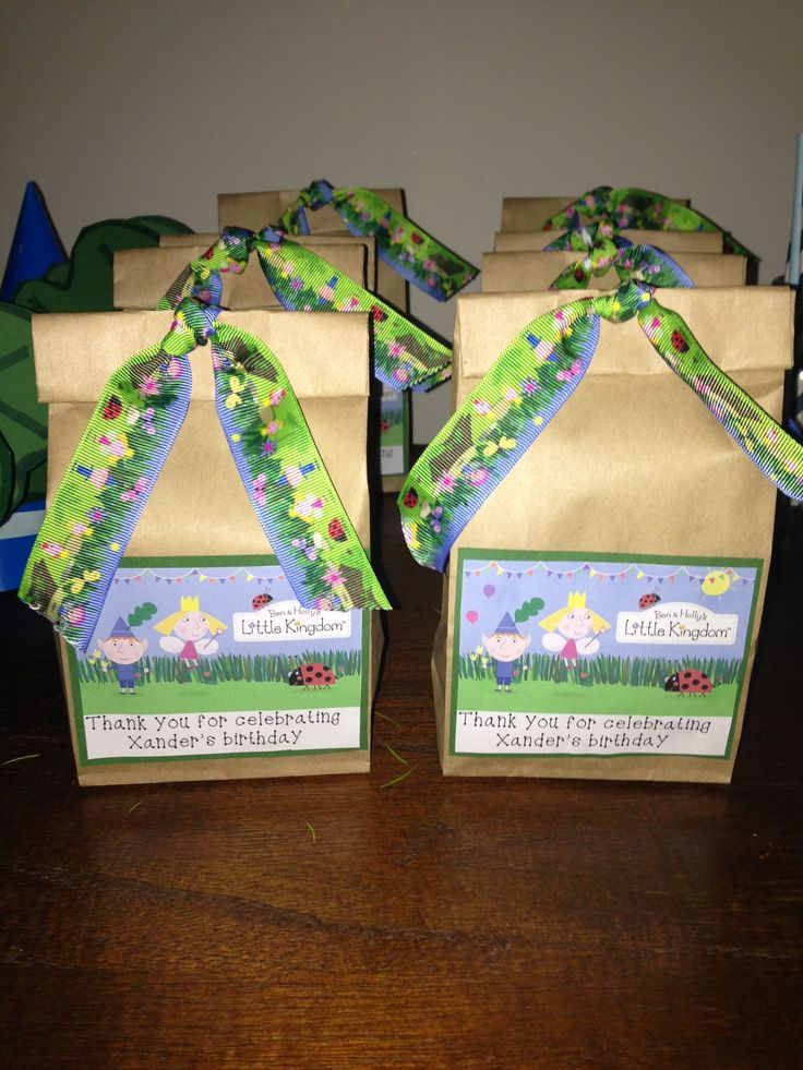 Ben and holly's little kingdom party bags