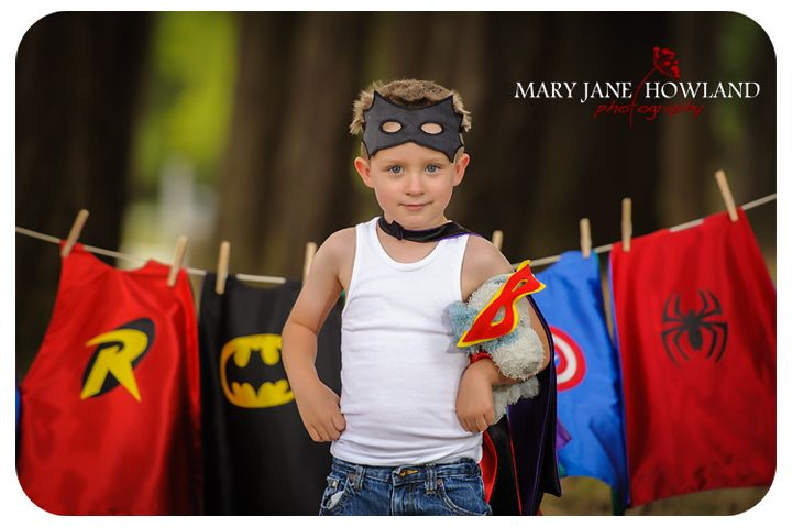 Super Hero Photos, Super Hero Photography, Super Hero Photo Shoot, Child Photography, Super Hero doing laundry