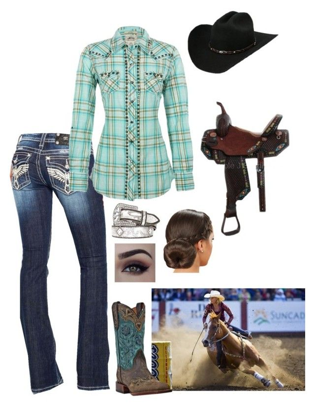 """Country girls grip and glide. City girls slip and slide"" by country-princess-7 on Polyvore featuring Miss Me, Ariat, Dan Post and country"